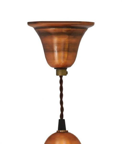 Muestra del florón lámpara acabado cobre