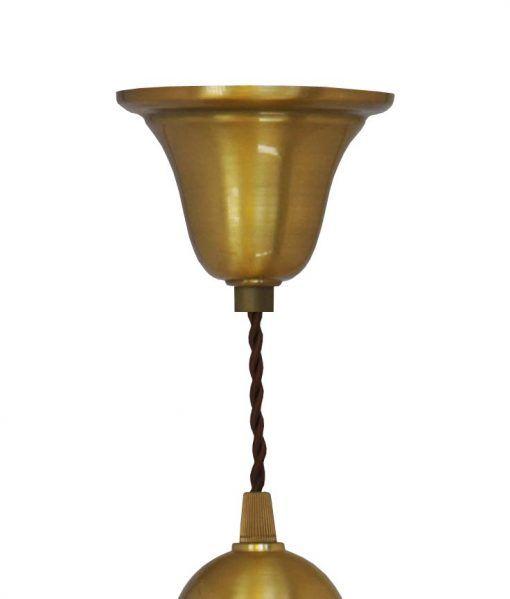 Muestra del florón lámpara acabado oro