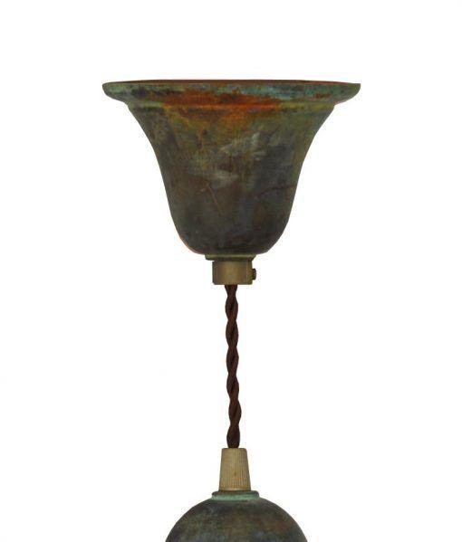 Muestra del florón lámpara acabado óxido