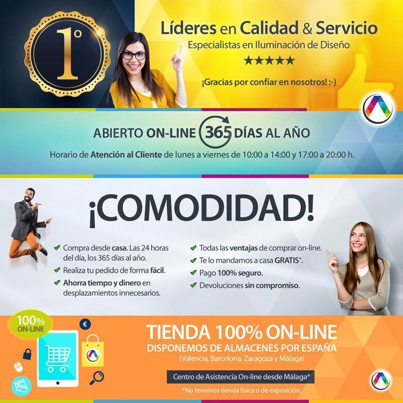 Las ventajas de tu tienda de lámparas líder 100% online La Casa de la Lámpara