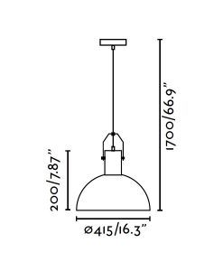 Medidas lámpara colgante MARGOT blanca