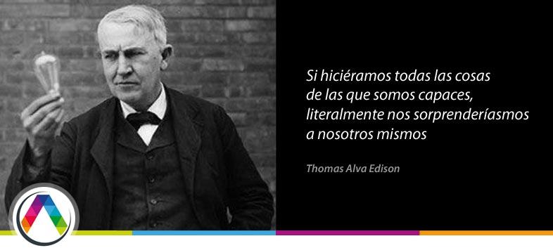 El inventor de la bombilla Thomas Alva Edison