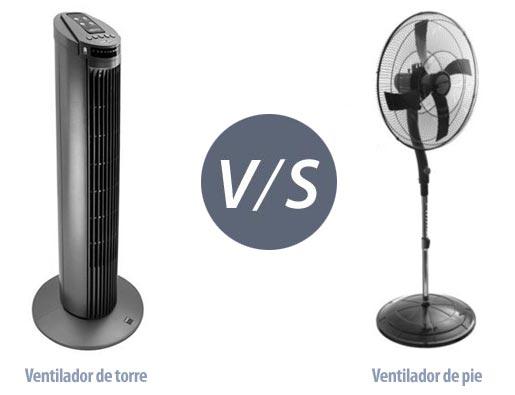 Comparativa entre un ventilador de torre o ventilador de pie