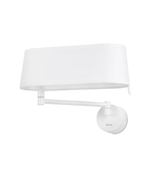 Aplique blanco brazo articulado DESLIZ LED