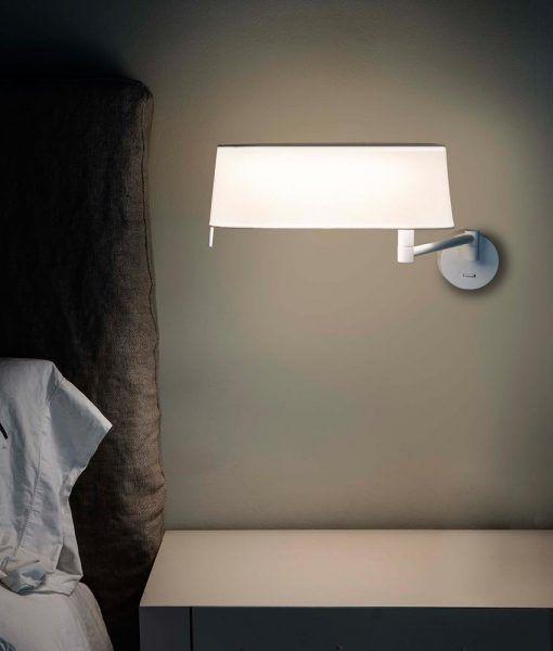 Aplique blanco brazo articulado DESLIZ LED ambiente
