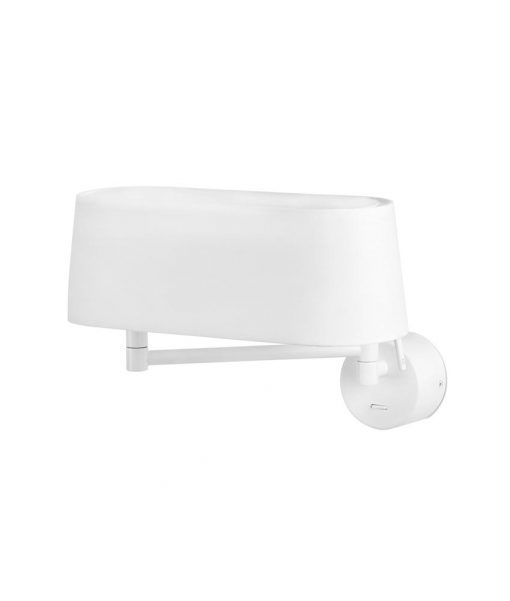Aplique blanco brazo articulado DESLIZ LED detalle