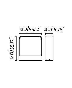 Medidas aplique blanco exterior moderno AXEL LED
