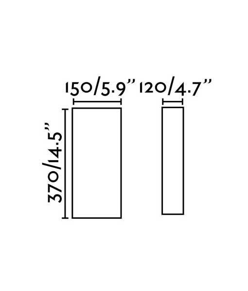 Medidas aplique circular de tela negro 2 luces COTTON