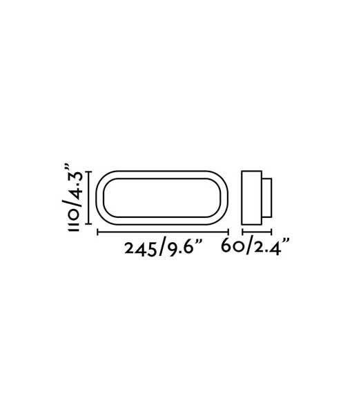 Medidas aplique clásico redondeado blanco FRED XL LED