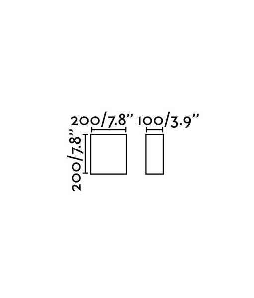 Medidas aplique cuadrado de tela negro COTTON