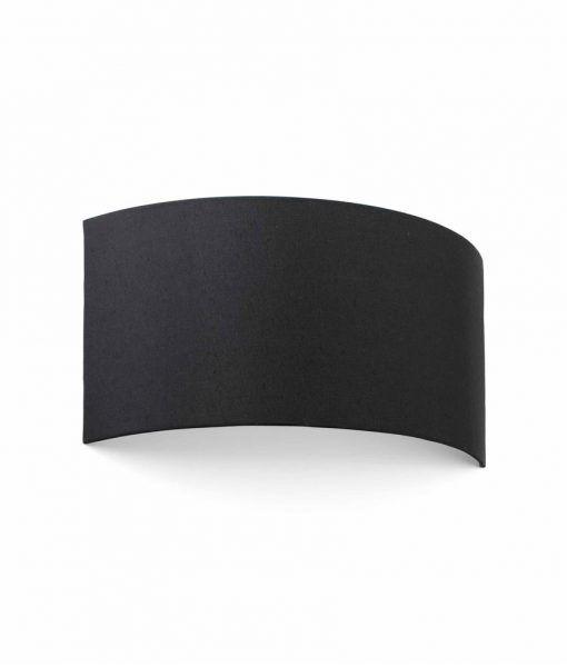 Aplique curvo de tela negro 2 luces COTTON