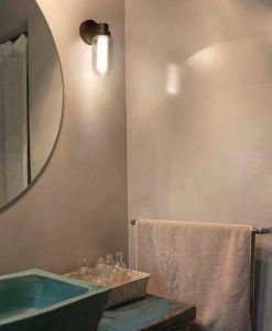 Aplique de pared baño bronce BRUME LED ambiente 2