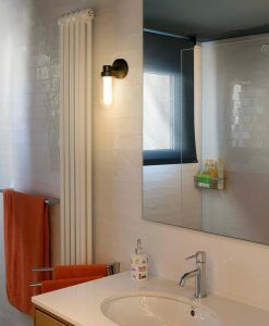 Aplique de pared baño bronce BRUME LED ambiente