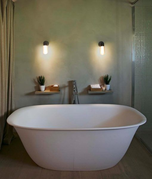 Aplique de pared baño bronce BRUME LED ambiente 3