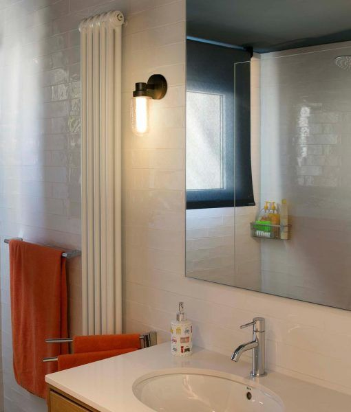 Aplique de pared baño bronce BRUME LED ambiente