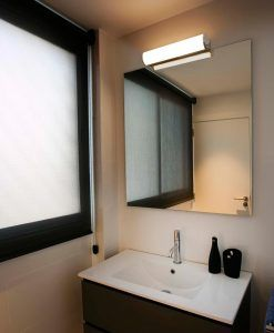 Aplique de pared baño cromo 12W DANUBIO LED ambiente