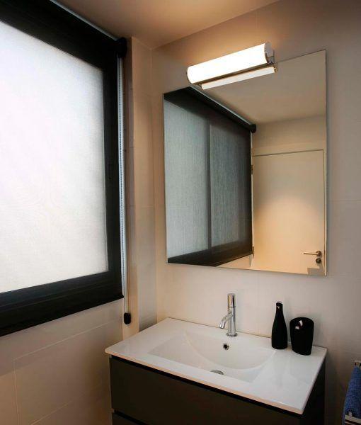 Aplique de pared baño cromo 12W DANUBIO LED ambiente