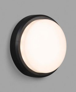 Aplique de pared negro TOM XL LED