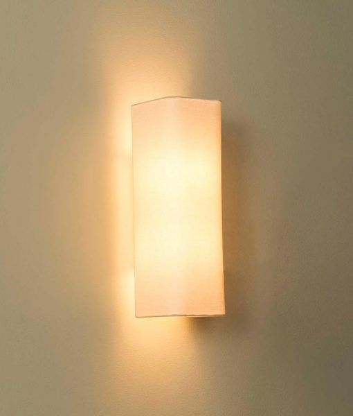 Aplique de tela beige 2 luces COTTON detalle