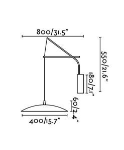 Medidas aplique extensible blanco SLIM LED