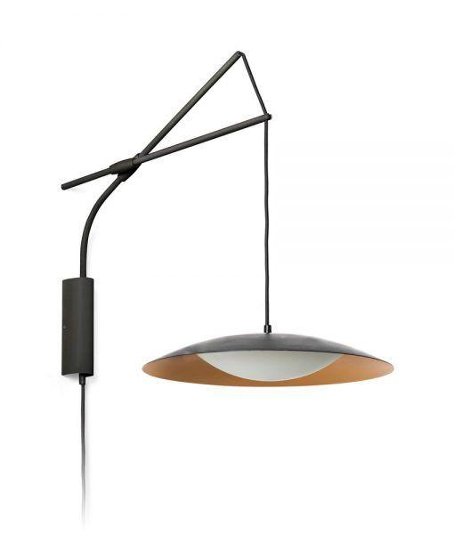 Aplique extensible negro y dorado SLIM LED