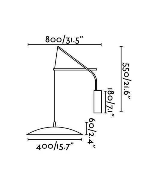 Medidas aplique extensible negro y dorado SLIM LED