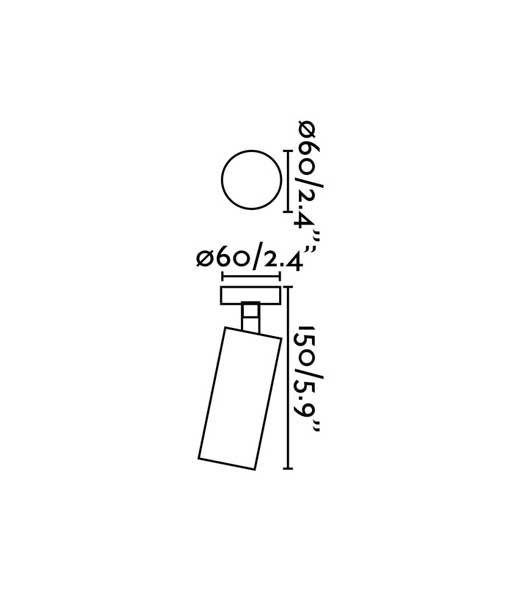 Medidas aplique foco de interior blanco STAN