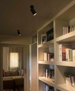 Aplique foco LED negro STAN ambiente