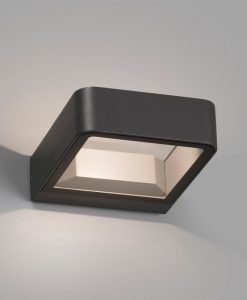 Aplique gris oscuro exterior moderno AXEL LED