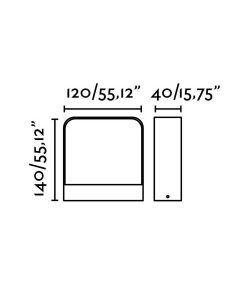 Medidas aplique gris oscuro exterior moderno AXEL LED