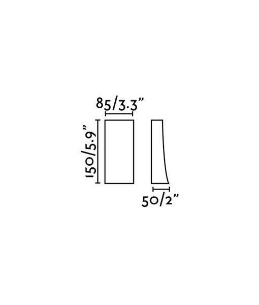 Medidas aplique gris oscuro NAIROBI LED