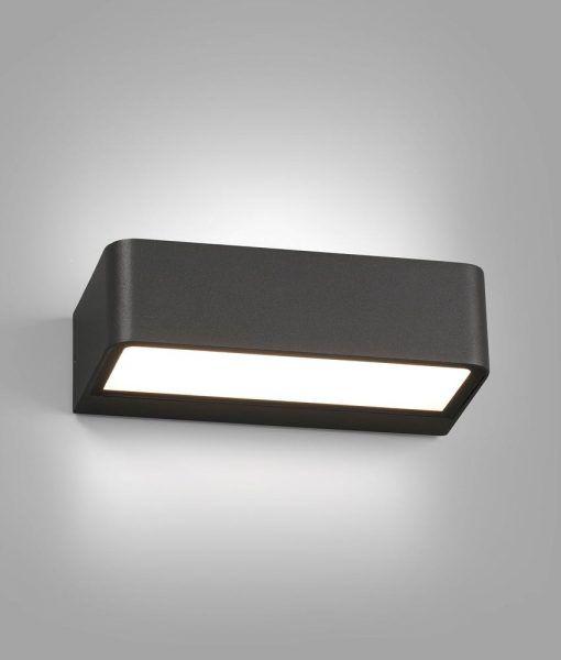 Aplique gris oscuro TAKUA LED