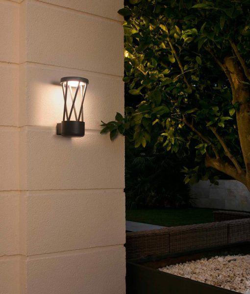 Aplique gris oscuro TWIST LED ambiente