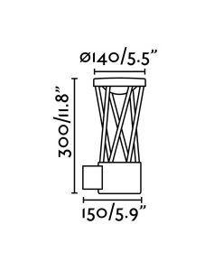 Medidas aplique gris oscuro TWIST LED