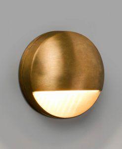 Aplique latón circular exterior DRAK LED