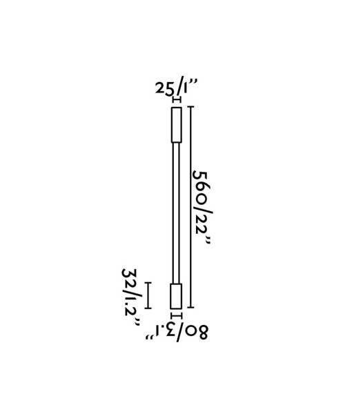 Medidas aplique lector brazo articulado negro PIXIE LED
