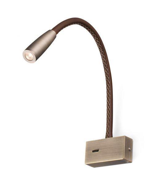 Aplique lector LED color bronce LEAD