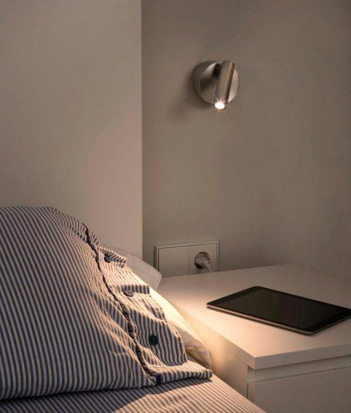 Aplique lectura níquel 3W luz cálida BOC LED ambiente
