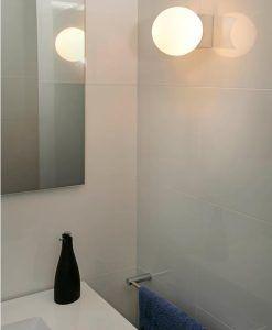 Aplique luz uniforme cromo para baño LAGO ambiente