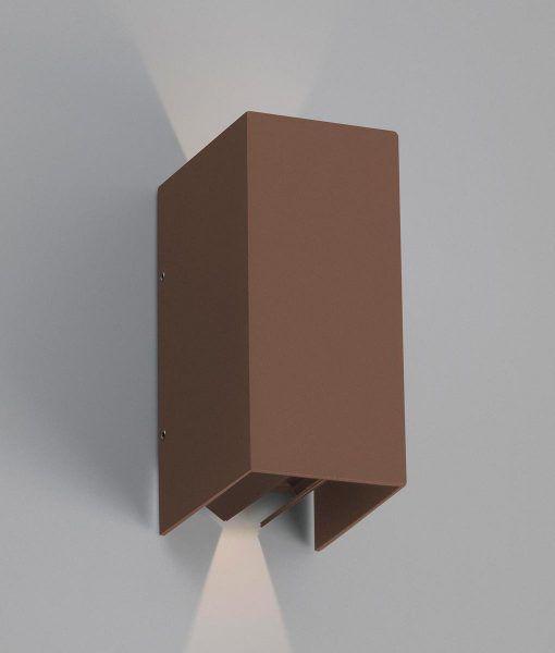 Aplique marrón óxido BLIND LED