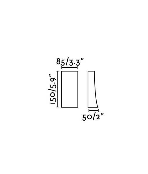 Medidas aplique marrón óxido NAIROBI LED