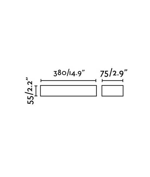 Medidas aplique marrón óxido TACANA LED