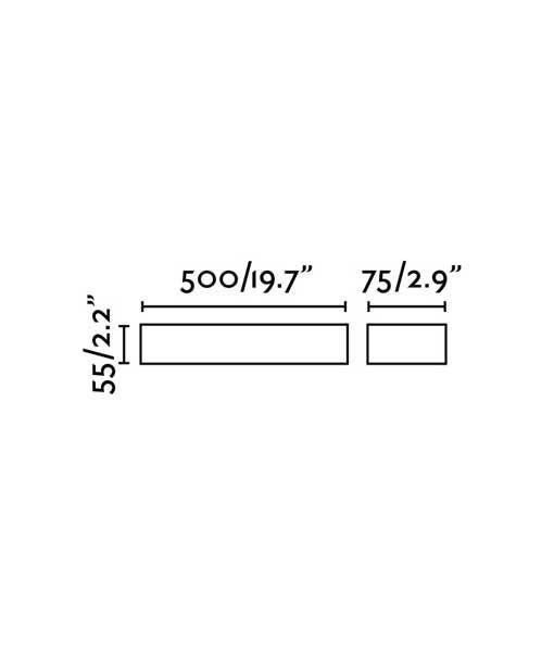 Medidas aplique marrón óxido TACOS LED