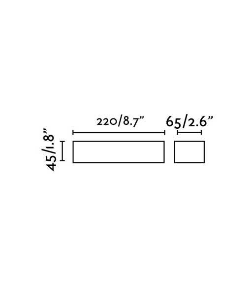 Medidas aplique marrón óxido TOLUCA LED