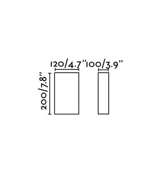 Medidas aplique negro de tela COTTON