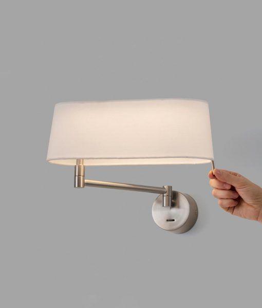 Aplique níquel brazo articulado DESLIZ LED detalle 2