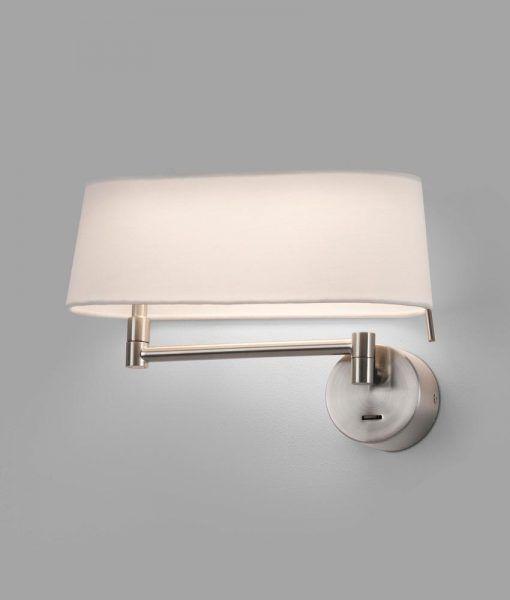 Aplique níquel brazo articulado DESLIZ LED detalle