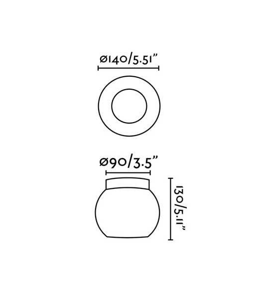 Medidas aplique/Plafón oro MOY LED