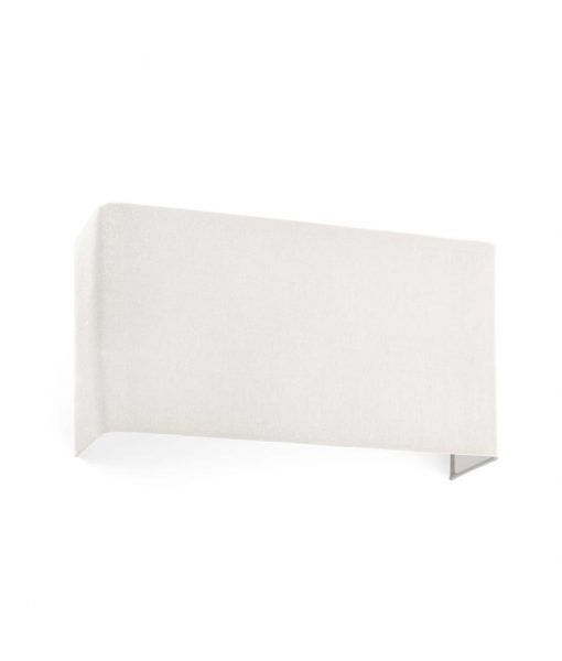 Aplique rectangular de tela beige 2 luces COTTON