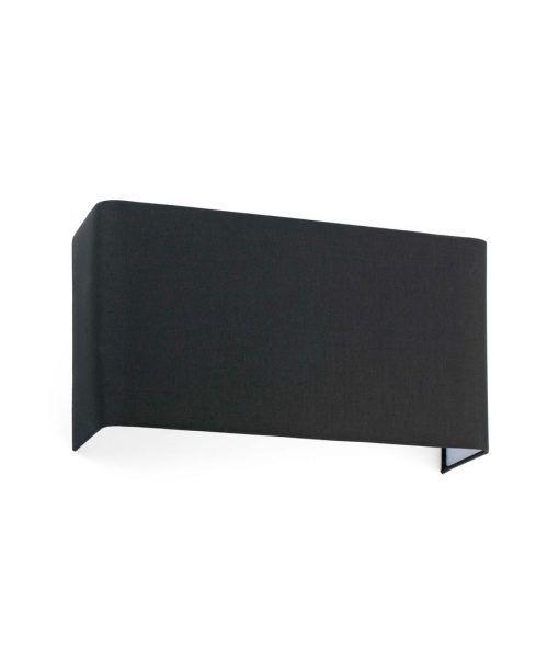 Aplique rectangular de tela negro 2 luces COTTON